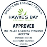 Hawke's Bay Regional Council Approved Installer Biolytix